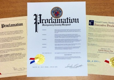 Prince George's, Montgomery and Howard County Proclamations