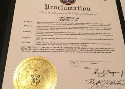 State of Maryland Proclamation