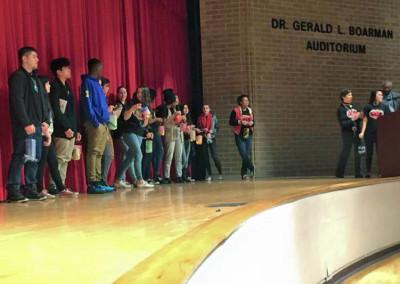 ERHS Assembly SADD Students